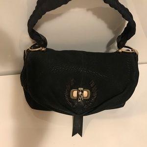 Authentic Nina Ricci Black Hand & Shoulder Bag